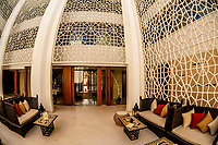 Jannah Bar (courtyard of marble), Nayara Spa, Hilton Luxor Resort and Spa, on the Nile River, Luxor, Egypt