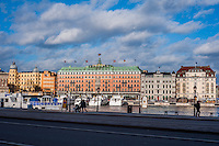 View of the Grand Hotel - Street scenes from Stockholm
