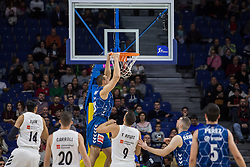 November 18, 2018 - Madrid, Madrid, Spain - Vyacheslav Bobrov during Real Madrid victory over Deltecto GBC (104 - 71) in Liga Endesa regular season game (day 9) celebrated in Madrid at Wizink Center. November 18th 2018. (Credit Image: © Juan Carlos GarcíA Mate/Pacific Press via ZUMA Wire)