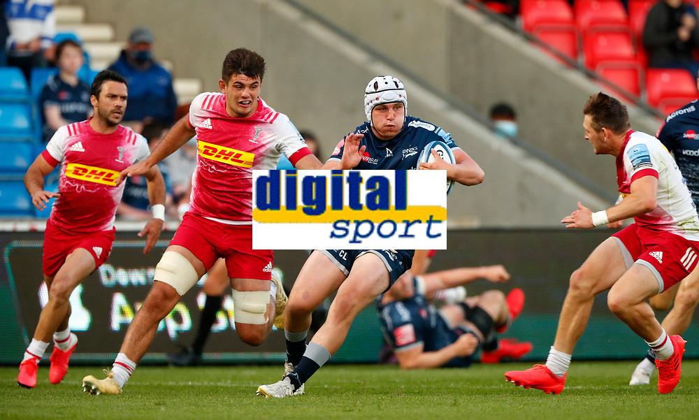Rugby Union - 2020 / 2021 Gallagher Premiership - Round 21 - Sale Sharks vs Harlequins - A J Bell Stadium<br /> <br /> Curtis Langdon of Sale Sharks  at AJ Bell Stadium<br /> <br /> Credit COLORSPORT/LYNNE CAMERON