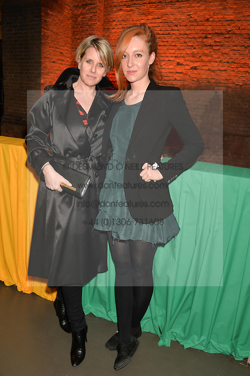 Left to right, FIONA GOLFAR and KATE GOLDSMITH at A Night of Reggae in aid of Save The Children held at The Roundhouse, Chalk Farm Road, London NW1 on 12th March 2014.
