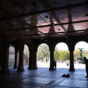 The Bethesda Terrace during a warm spring day in Central Park, Manhattan, New York, USA. Photo Tim Clayton