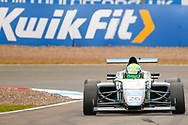 Louis Foster(GBR) Double R Racing coming out of the hairpin during the FIA Formula 4 British Championship at Knockhill Racing Circuit, Dunfermline, Scotland on 15 September 2019.