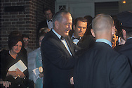 .President Johnson shakes hands at the door of the Harriman residence in Georgetown after a party for Lynda Byrd  Johnson  and Chuck Robb before their WWhite House wedding in December 1967....Photgraph by Dennis Brack BS B13