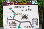 route des crus sign beaujolais burgundy france