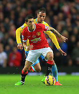 Marouane Chamakh of Crystal Palace chases Angel di Maria of Manchester United - Manchester United vs. Crystal Palace - Barclay's Premier League - Old Trafford - Manchester - 08/11/2014 Pic Philip Oldham/Sportimage