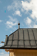 lightning rod on the roof of the tram station at Fulpmes, a village and a municipality in Stubaital, Tyrol, Austria.