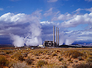 Navajo Generating Station, a coal-fired powerplant with the capacity of 2,280 megawatts located on the Navajo Reservation near Page, Arizona.  Plant burns coal from the Peabody Western Coal Company;s Kayenta Mine at releases an estimated 19.9 million tons of Carbon Dioxide annually.