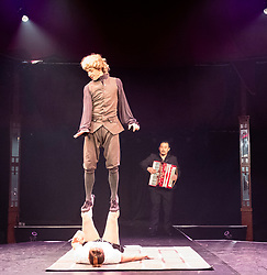 Edinburgh, Scotland, UK; 16 August, 2018. Artists from around the globe gather at The Underbelly Circus Hub to celebrate 250 years of circus.. Pictured; Circa: Wolfgang from Australia.