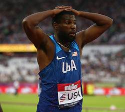 July 14, 2018 - London, United Kingdom - Ameer Webb of USA compete in the 200m Men.during Athletics World Cup London 2018 at London Stadium, London, on 14 July 2018  (Credit Image: © Action Foto Sport/NurPhoto via ZUMA Press)