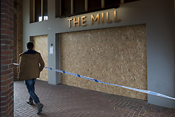 File photo dated 27/03/18 of a police cordon outside The Mill pub in Salisbury, which was closed in the aftermath of the nerve agent attack on Russian double agent Sergei Skripal and his daughter Yulia. The pub, which had been visited by the pair shortly before they fell ill with Novichok poisoning, could re-open later this year.
