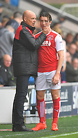 Fleetwood Town's Manager Uwe Rosler congratulates Chris Long on his substitution<br /> <br /> Photographer Dave Howarth/CameraSport<br /> <br /> The EFL Sky Bet League One - Fleetwood Town v Coventry Town - Saturday 3 September 2016 - Highbury Stadium - Fleetwood<br /> <br /> World Copyright © 2016 CameraSport. All rights reserved. 43 Linden Ave. Countesthorpe. Leicester. England. LE8 5PG - Tel: +44 (0) 116 277 4147 - admin@camerasport.com - www.camerasport.com
