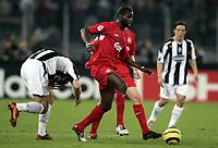 Fotball<br /> Champions League 2004/05<br /> Juventus v Liverpool<br /> 13. april 2005<br /> Foto: Digitalsport<br /> NORWAY ONLY<br /> DJIMI TRAORE (LIV)
