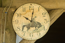 Weathered western styled outdoor clock