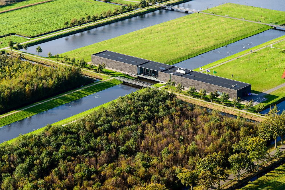 Nederland, Friesland, Gemeente Heerenveen, 10-10-2014; Museumpark Landgoed Oranjewoud met Museum Belvedere.<br /> Museum Park Oranjewoud Estate with Museum Belvedere.<br /> luchtfoto (toeslag op standard tarieven);<br /> aerial photo (additional fee required);<br /> copyright foto/photo Siebe Swart