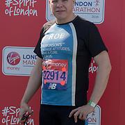 Rob Derring at London Marathon 2018 on 22 April 2018, Blackhealth, London, UK.