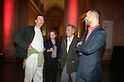 Anthony gormley, Rachel Whiteread, Anish Kapoor and Wofgang tillmans. Turner Prize: A Retrospective. Opening party. Tate Millbank. London. 2 October 2007. -DO NOT ARCHIVE-© Copyright Photograph by Dafydd Jones. 248 Clapham Rd. London SW9 0PZ. Tel 0207 820 0771. www.dafjones.com.