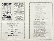 All Ireland Senior Hurling Championship Final, .Brochures,.05.09.1943, 09.05.1943, 5th September 1943, .Antrim 0-4, Cork 5-16,.Minor Dublin v Kilkenny, .Senior Antrim v Cork, .Croke Park, ..Advertisements, Lemons Pure Sweets, The Green Cinema St. Stephen's Green, Lee Products, ..Songs, Dan Mairseala Na nGaedeal, The Athletes of Eireann,