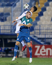 Miha Blazic of Slovenia during football match between National teams of Greece and Slovenia in Final tournament of Group Stage of UEFA Nations League 2020, on November 18, 2020 in Georgios Kamaras Stadium, Athens, Greece. Photo by BIRNTACHAS DIMITRIS / INTIME SPORTS / SPORTIDA