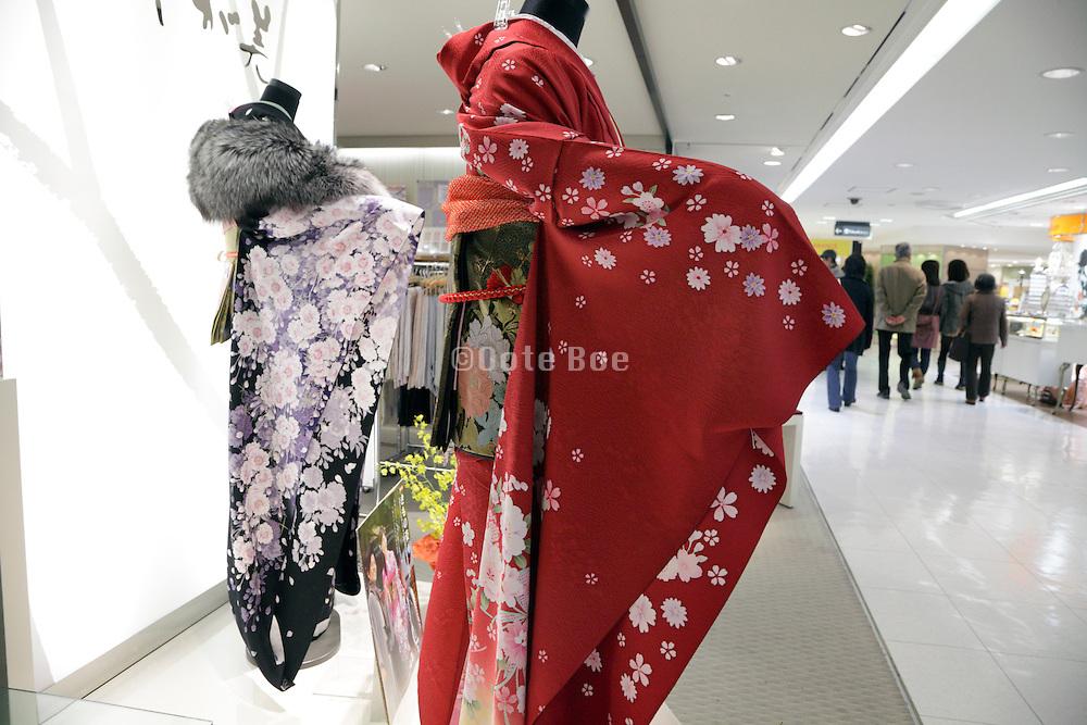 kimono,Äôs on display in a clothing store Japan