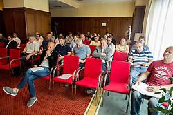 Dejan Kontrec, secretary general of HZS at assembly of Ice Hockey Federation of Slovenia on June 24, 2014 in Austria Trend Hotel, Ljubljana, Slovenia. Photo By Vid Ponikvar / Sportida