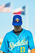 Amarillo Sod Poodles pitcher MacKenzie Gore (13) before the game against the Northwest Arkansas Travelers on Friday, July 19, 2019, at HODGETOWN in Amarillo, Texas. [Photo by John Moore/Amarillo Sod Poodles]