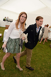 HRH PRINCESS BEATRICE OF YORK and DAVE CLARK at the 2013 Cartier Queens Cup Polo at Guards Polo Club, Berkshire on 16th June 2013.