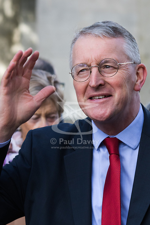 Westminster, London, October 14th 2015. Labour's shadow Foreign Secretary Hilary Benn MP photographed outside Parliament.