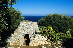 Old rural building in the Salentine countryside of Capo di Leuca