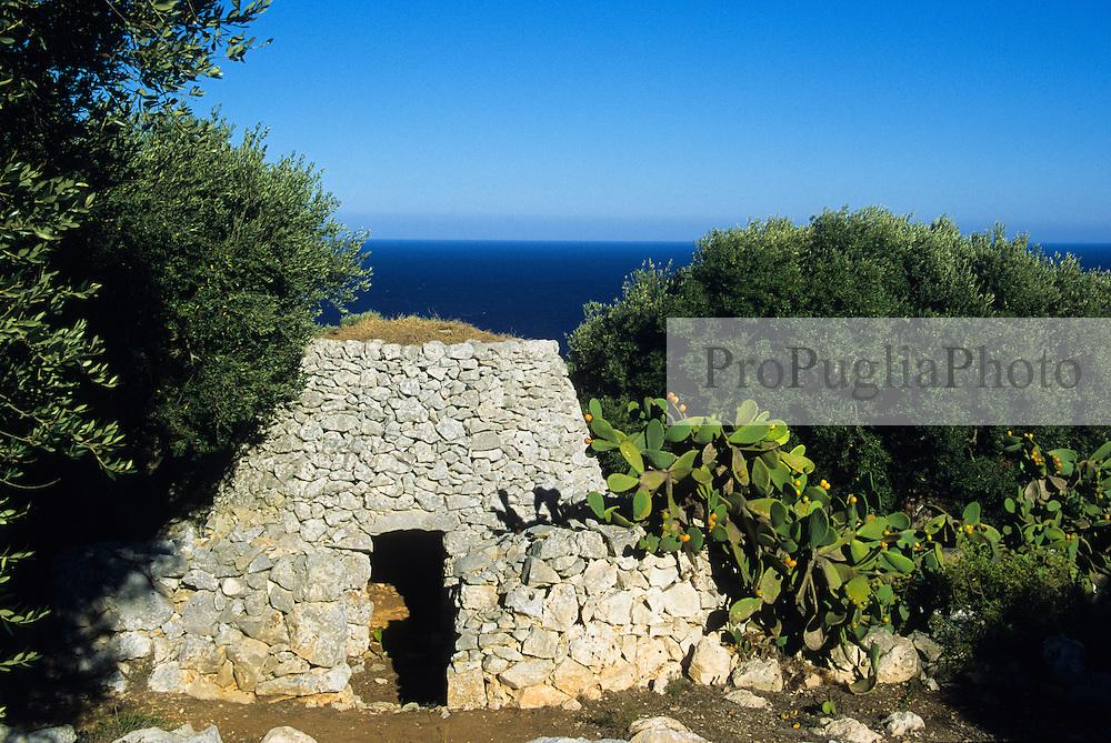 Old rural building in the Salentine countryside of Capo di Leuca