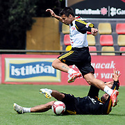 Galatasaray's players Milan BAROS (F) during their training session at the Jupp Derwall training center, Tuesday, April 20, 2010. Photo by TURKPIX