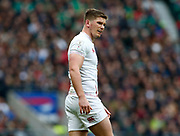 Owen Farrell of England  in action during the Guinness Six Nations between England and Ireland at Twickenham  Stadium, Sunday, Feb. 23, 2020, in London, United Kingdom. (ESPA-Images/Image of Sport)