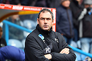 Derby County Manager Paul Clement prior to kick off. Skybet football league Championship match, Huddersfield Town v Derby county at the John Smith's Stadium in Huddersfield , Yorkshire on Saturday 24th October 2015.<br /> pic by Chris Stading, Andrew Orchard sports photography.
