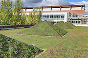 Greenrise Technologies installation on roof of the UVa Medical Center at the University of Virginia in Charlottesville, Va. Photo/Andrew Shurtleff