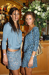 Left to right, ZARA SIMON and JESSICA SIMON daughters of Peter Simon at a private dinner and presentation of Issa's Autumn-Winter 2005-2006 collection held at Annabel's, 44 Berkeley Square, London on 15th March 2005.<br />