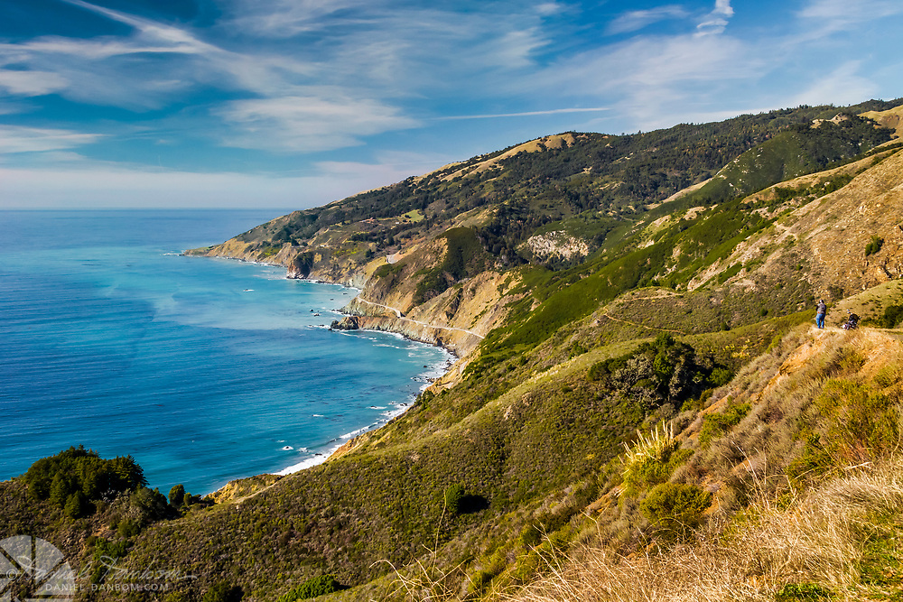High above the Pacific on the Big Sur coast, looking over Lucia and the coast highway 1 California