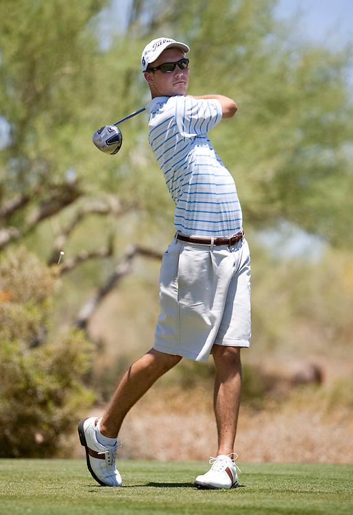 American Junior Golf Association player Andrew Knox at the Thunderbird International Junior tournament.