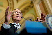 Senate Majority Leader Harry Reid (D-NV) speaks to the media on Capitol Hill in Washington, D.C, USA, 11 June 2012. Reid endorsed calls for a state investigation into the outcome of the disputed fight between Manny Pacquiao and Timothy Bradley.