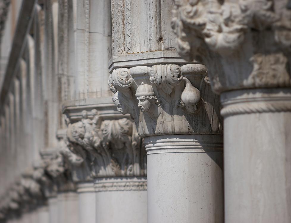 Italy - Venezia - Palazzo Ducale pillars