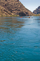 Swirling currents and eddies in The Black Canyon, Nevada.