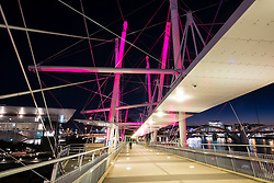 Modern Kurilpa bridge which is a footbridge crossing the Brisbane River in Brisbane Queensland Australia