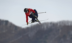 Great Britain's James Woods during the Men's Ski Slopestyle Skiing at the Pheonix Snow Park during day nine of the PyeongChang 2018 Winter Olympic Games in South Korea.
