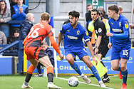 AFC Wimbledon Defender Will Nightingale (5) during the EFL Sky Bet League 1 match between AFC Wimbledon and Wycombe Wanderers at the Cherry Red Records Stadium, Kingston, England on 27 April 2019.