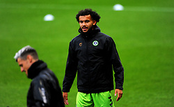 Dominic Bernard of Forest Green Rovers warms up prior to kick-off- Mandatory by-line: Nizaam Jones/JMP - 03/10/2020 - FOOTBALL - the innocent [insert name here] stadium - Nailsworth, England - Forest Green Rovers v Walsall - Sky Bet League Two
