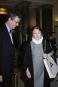 Lord Charles Cecil and the Marchioness of Salisbury, Everyman's Centenary Party. The Fine Rooms. Royal Academy. London. 15 February 2006. dddONE TIME USE ONLY - DO NOT ARCHIVE  © Copyright Photograph by Dafydd Jones 66 Stockwell Park Rd. London SW9 0DA Tel 020 7733 0108 www.dafjones.com