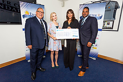 The Rape and Sexual Abuse Helpline Charity receives their cheque - Ryan Hiscott/JMP - 06/08/2018 - RUGBY - Sandy Park - Exeter, England - Exeter Chiefs Season Launch Dinner
