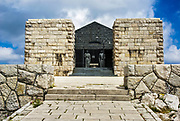 Petar Petrovic Njegos's Mausoleum, Lovćen (Lovcen) national park Montenegro.