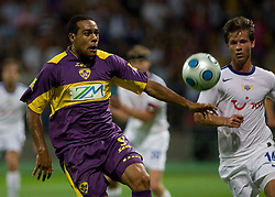 Marcos Morales Tavares of Maribor vs Dusan Djuric at Third Round of Champions League qualifications football match between NK Maribor and FC Zurich,  on August 05, 2009, in Ljudski vrt , Maribor, Slovenia. Zurich won 3:0 and qualified to next Round. (Photo by Vid Ponikvar / Sportida)