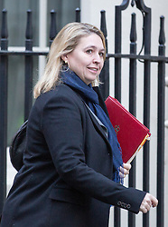 © Licensed to London News Pictures. 29/11/2016. London, UK. Secretary of State for Culture, Media and Sport Karen Bradley arriving in Downing Street to attend a cabinet meeting this morning. Photo credit : Tom Nicholson/LNP