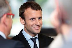 Economy Minister Emmanuel Macron visits Simmons mattress factory in Saint-Amand-Les-Eaux, near Valenciennes, northern France, on May 31, 2016. Photo Sylvain Lefevre/ABACAPRESS.COM